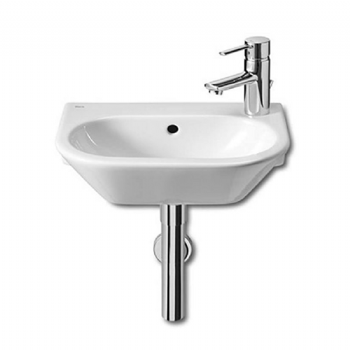 Roca Nexo Round Cloakroom Basin - 405mm - Right Handed - 1 Tap Hole - White